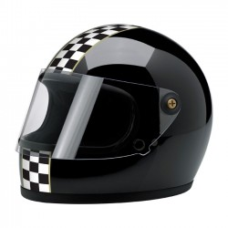 BILTWELL GRINGO S INTEGRAL HELMET LE CHECKER GLOSS BLACK