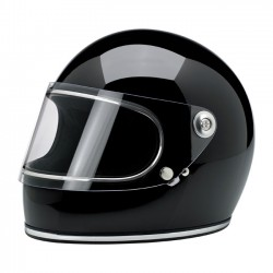 FULL FACE HELMET GLOSS BLACK S GRINGO BILTWELL