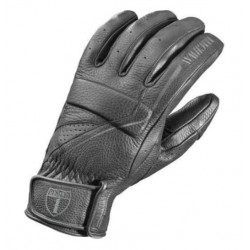 BLACK BIKER GLOVES HIGHWAY