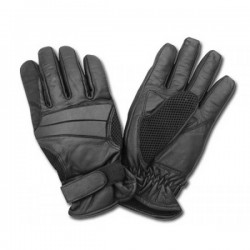 SUMMER LEATHER GLOVES BLACK AL24