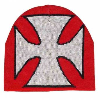 gorro-de-lana-red-white-cross