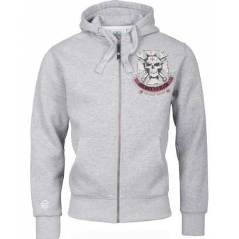 SUDADERA GRIS CON CAPUCHA WEST COAST CHOPPERS MECHANIC