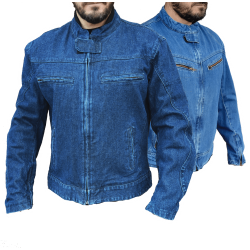 DENIM JACKET WITH PROTECTION