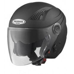 CASCO JET VISERA FLUSH NEGRO MATE