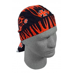 BIKER BANDANA RED FLAMES