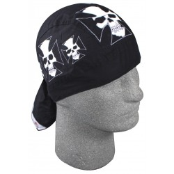 SKULLS IRON CROSS BANDANA