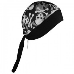 SKULL AND BANDANA purpel CROSSBONE