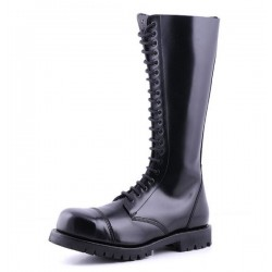 HIGH BOOTS BLACK LEATHER 1415