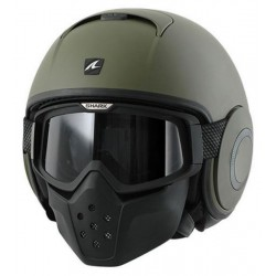 CASCO JET SHARK DRAK VERDE MATE