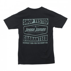 CAMISETA JESSE JAMES TESTED TEE BLACK