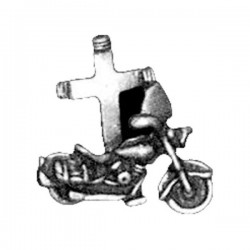 MOTORCYCLE WITH CROSS PIN