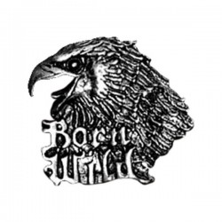 BORN WILD EAGLE PIN