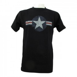 FOSTEX AIR FORCE SHIRT BLACK STARS BARS