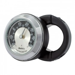 "MOUNT THERMOMETER BLACK HANDLE SUPPORT 1 ""-7/8"" BLACK / SILVE"