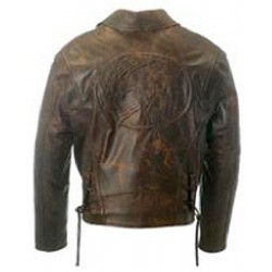 ALEX ORIGINALS EMBOSSING LEATHER JACKET WAXY