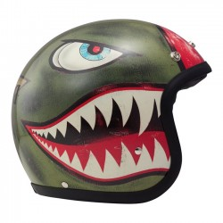 GREEN SHARK HELMET JET DMD