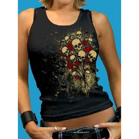 camiseta-lady-skull-bouquet