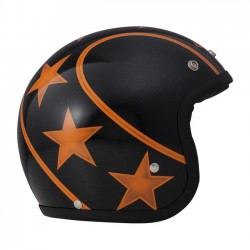 STUNT DMD VINTAGE HELMET JET BLACK / ORANGE