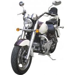 BLACK 30MM MOTOR DEFENSE HYOSUNG AQUILA 125 GV-06 UP