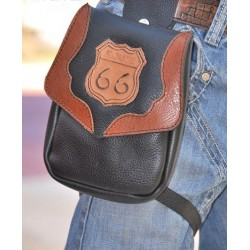 LEG BAG 1 CUSTOM LEATHER CONCHO MOEBIUS Z06 ROUTE 66