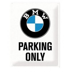 PLACA GARAJE BMW PARKING ONLY