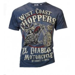 CAMISETA WEST COAST CHOPPERS RIDE EL DIABLO