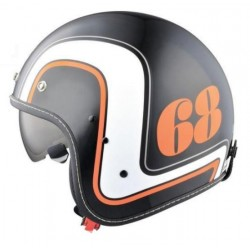 HIGHWAY 68 RETRO HELMET JET BLACK (OUTLET)