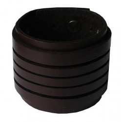 BRAZALETE CUERO BROWN (OUTLET)