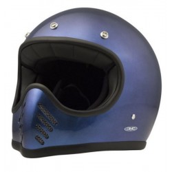 CASCO INTEGRAL DMD SEVENTY FIVE AZUL METALIZADO