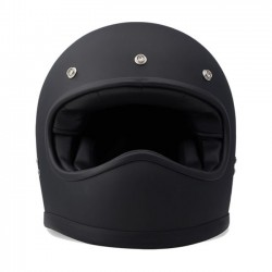 DMD RACER MATTE BLACK FULL FACE HELMET
