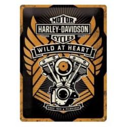 PLACA GARAJE HARLEY DAVIDSON WILD
