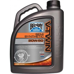MOTOR OIL SEMI-SYNTHETIC V-twin engine Belray 20W50 / 4 LITRE