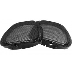 HOGTUNES FRONT REPLACEMENT SPEAKER GRILLS FOR HARLEY DAVIDSON FLTR 98-13