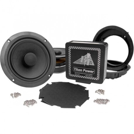 "TITAN 180 WATT AMP AND 7.1"" BIG SPEAKER PACKAGE SOUND KIT FOR HARLEY DAVIDSON FLHT/FLHTC Y FLTHCU 96-97"