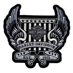 PATCH HARLEY DAVIDSON WINGS EST 1903 23 X 23 CM