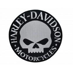 PARCHE HARLEY DAVIDSON SKULL BLANCO 23 X 23 CM