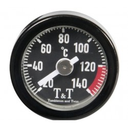 T&T OIL TEMPERATURE GAUGE BLACK HONDA VT1100 C2 95-00
