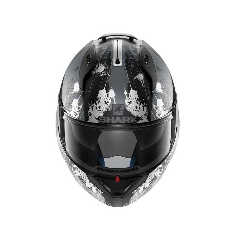 1202a083 ... casco-integral-shark-evoline-3-black-metal-mat ...