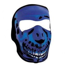 NEOPRENE BLUE SKULL MASK