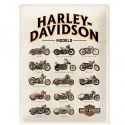 PLACA GARAJE HARLEY DAVIDSON MODELS