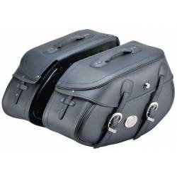 LEATHER SADDLEBAGS BUFFALO HEPCO & BECKER