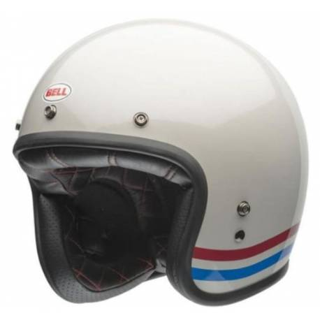 cd774e9f CASCO JET BELL 500 CARBONO STRIPES PEARL BLANCO - SpacioBiker