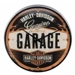 WALLCLOCK HARLEY DAVIDSON GARAGE