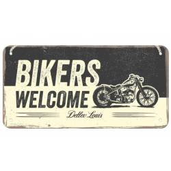 PLACA BIKER WELCOME 20 X 10 CM