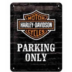 METAL SING HARLEY DAVIDSON PARKING ONLY
