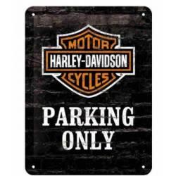 METAL SING HARLEY DAVIDSON PARKING ONLY