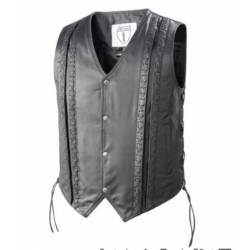 HIGHWAY I LEATHER VEST LACED