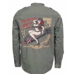 CAMISA LETHAL THREAT BOMBER PIN UP