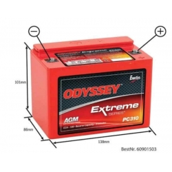 ODYSSEY BATTERY PURE LEAD DAELIM DAYSTAR 125 FI