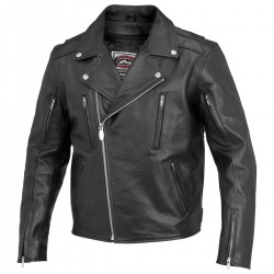 LEATHER JACKET RIVER ROAD IRONCLAD (OUTLET)